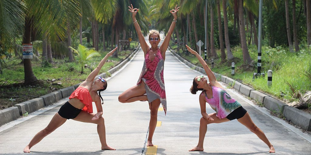 Yoga on Tropical Island