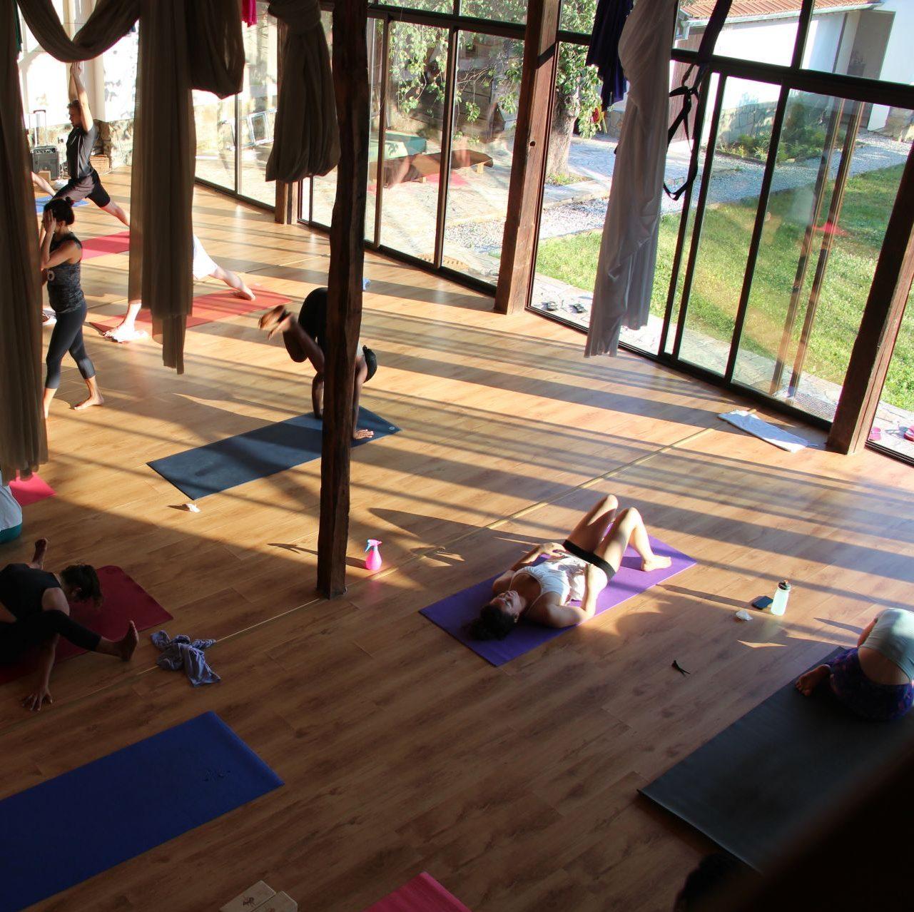 Yoga morning session in our yoga center in Veliko Tarnovo, Bulgaria