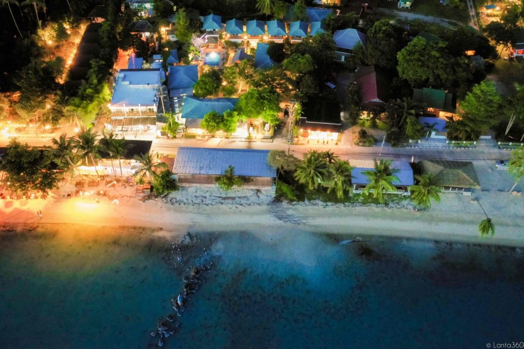 aerial view of ananda's beach