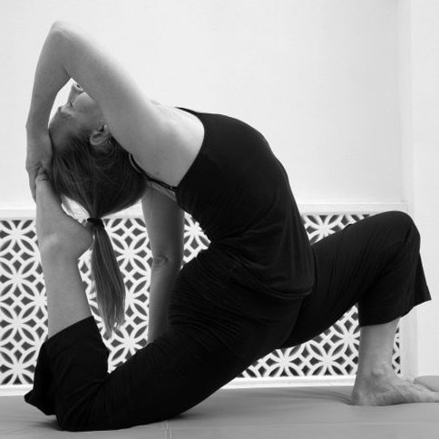 Yoga Teacher Valerie posing