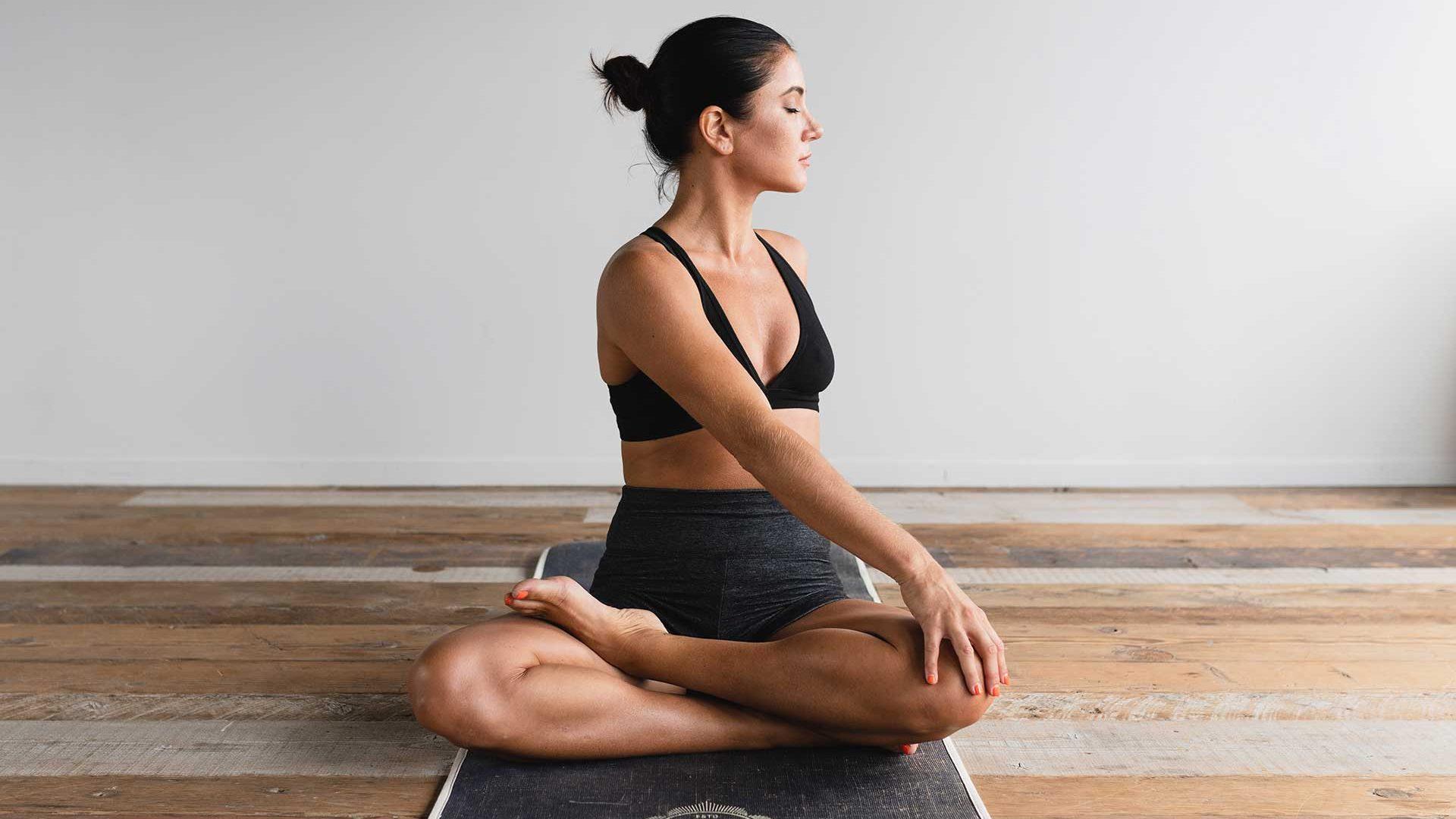 Yoga girl posing